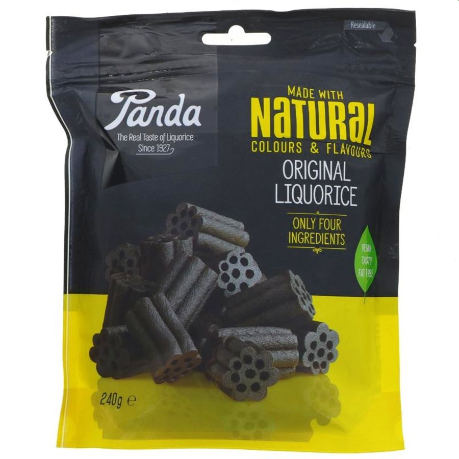 Panda Natural Liquorice Pieces 240g