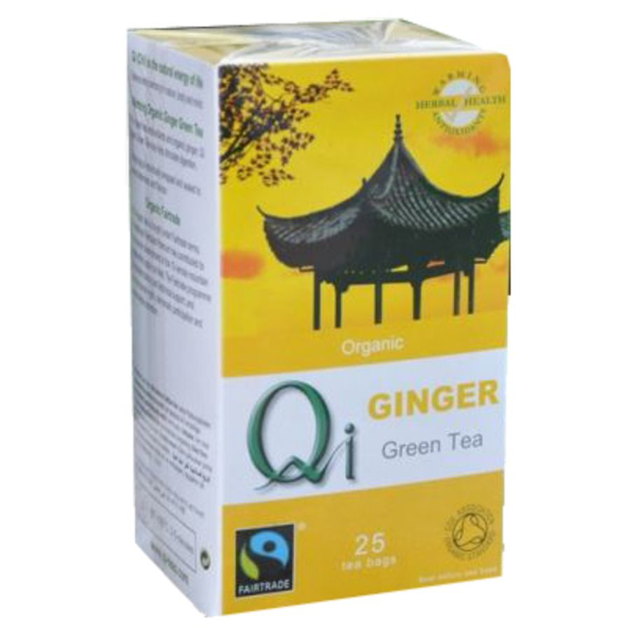 Qi Green Tea & Ginger 25 teabags
