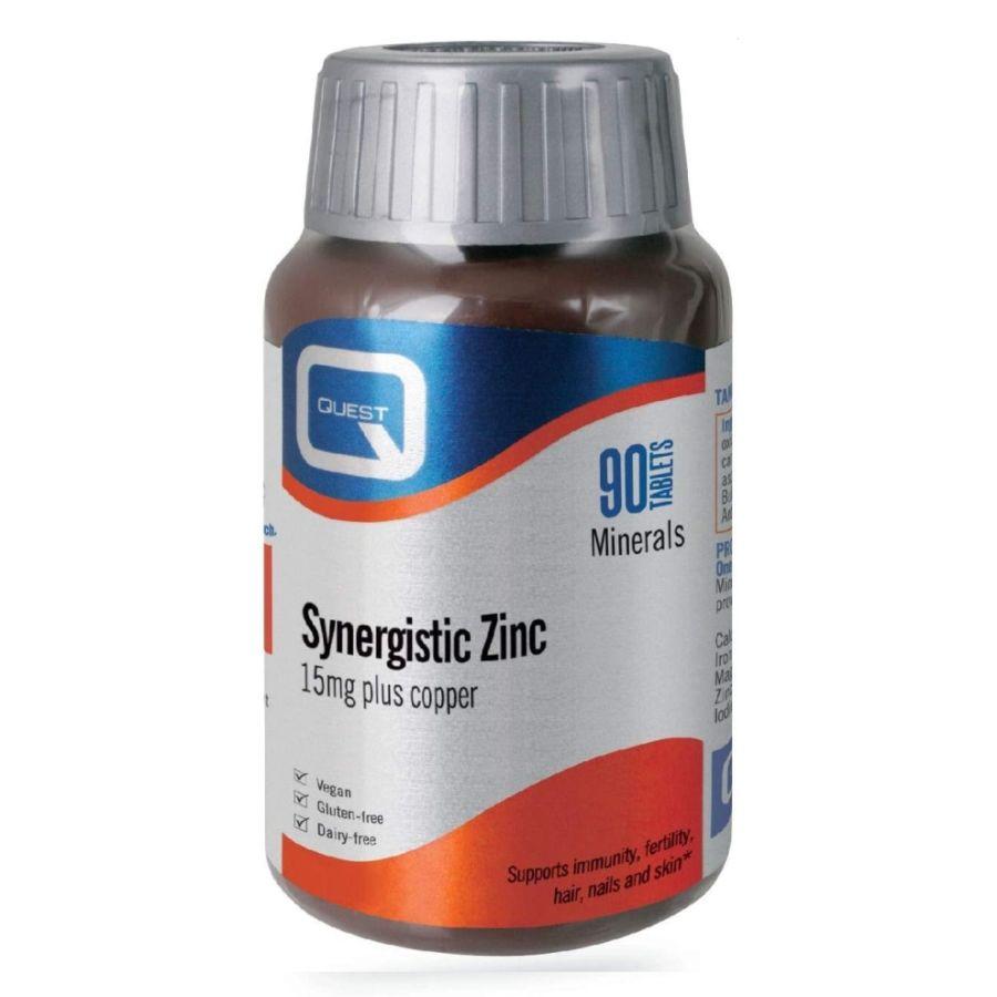 Quest Synegstic Zinc 15mg Plus Copper 90 tablets