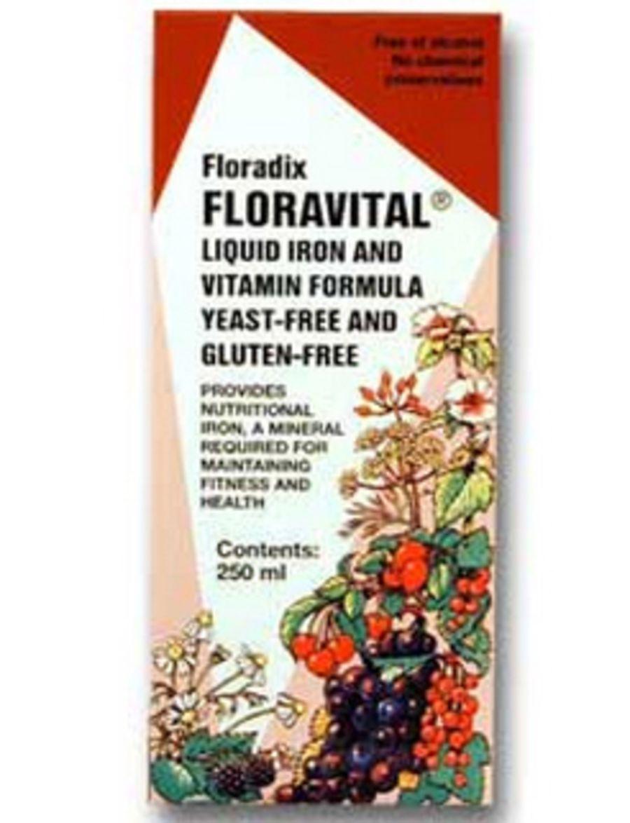 Floravital Iron And Vitamin Formula Yeast & Gluten-Free 250mls