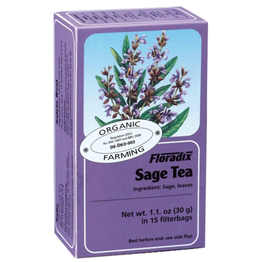 Floradix Organic Sage Herbal Tea 15 tea bags