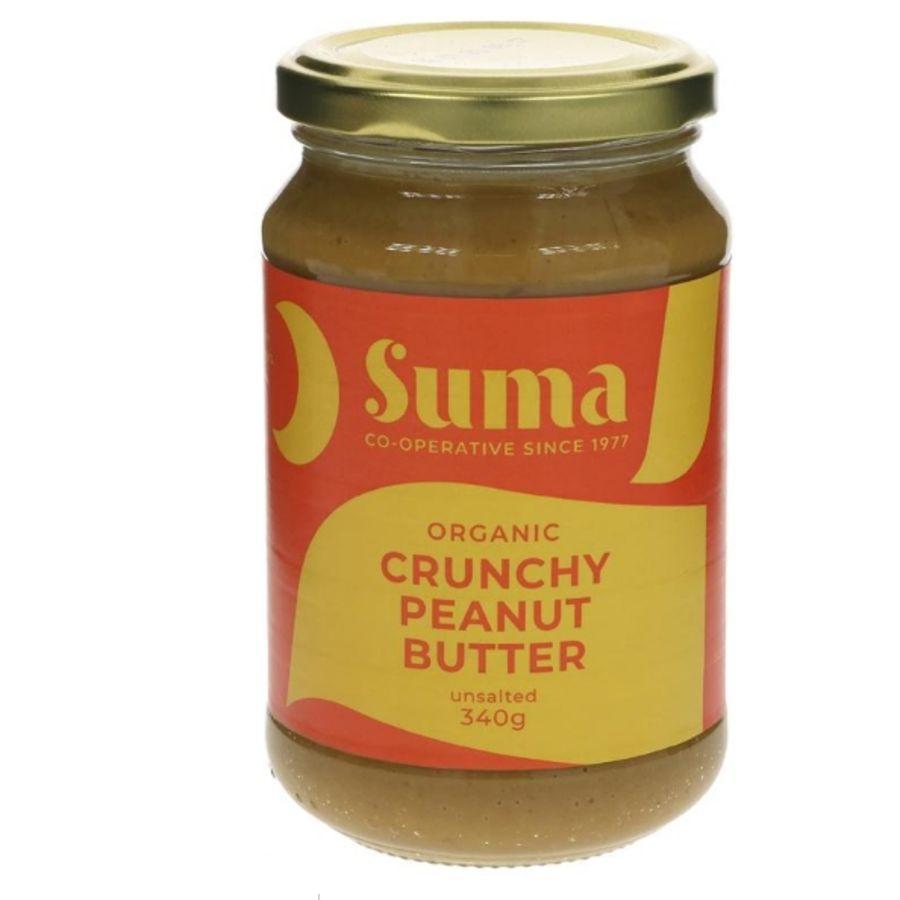 Suma Organic Peanut Butter - Crunchy & Unsalted