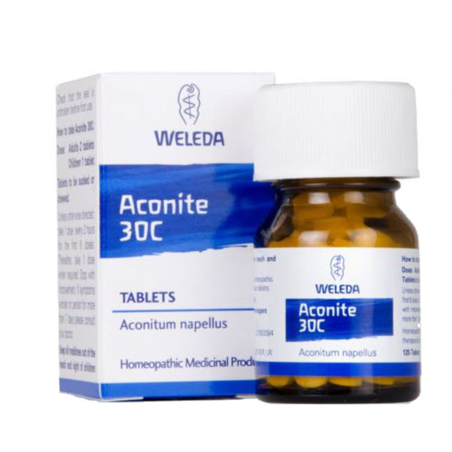 Weleda Aconite 30C-125 homeopathic tablets