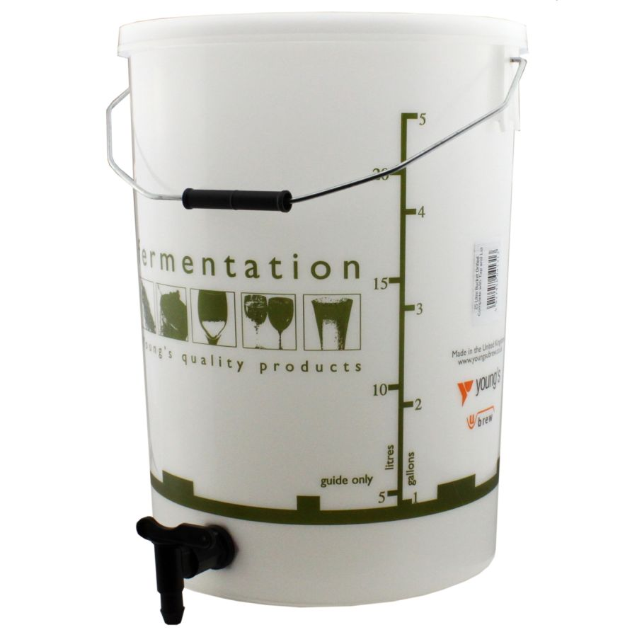 Youngs Fermentation Vessel with Lid & Tap 25 Litre