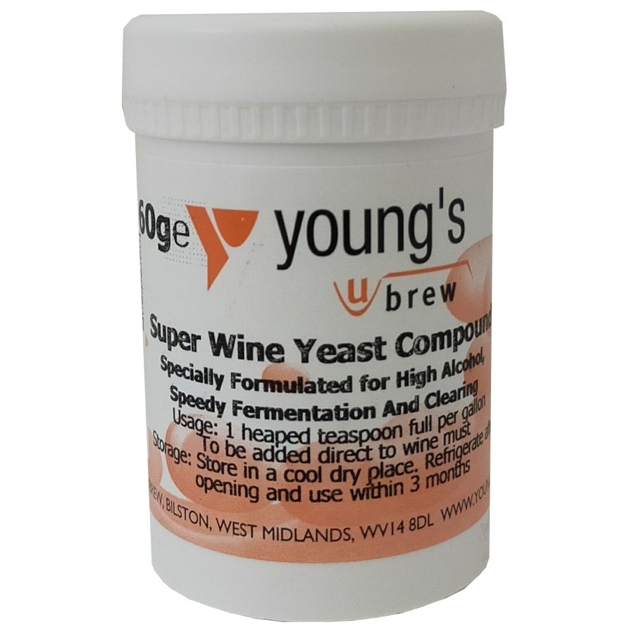 Youngs Super Wine Yeast Compound 60g