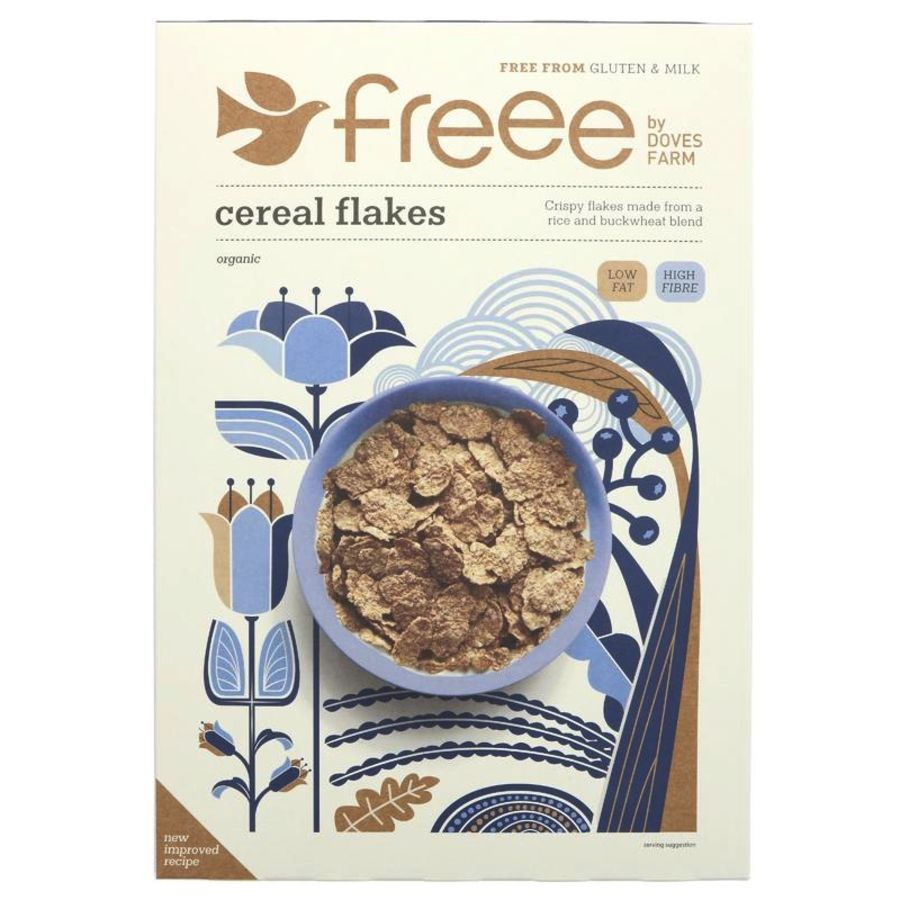 Doves Farm Organic Gluten Free Cereal Flakes 375g