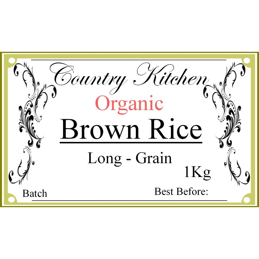Country Kitchen Organic Long Grain Brown Rice 1kg