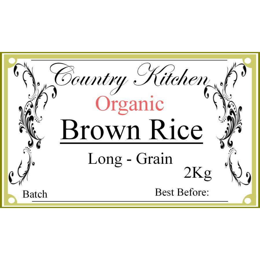 Country Kitchen Organic Brown Long Grain Rice 2kg