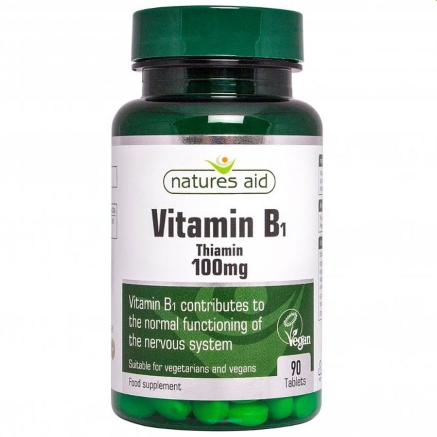 Natures Aid Vitamin B1 Thiamin 100ug 90 tablets