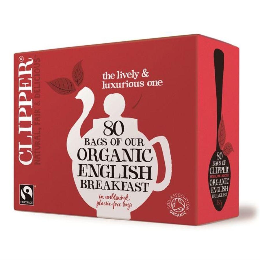 Clipper Organic Fair Trade English Breakfast Tea 80 teabags
