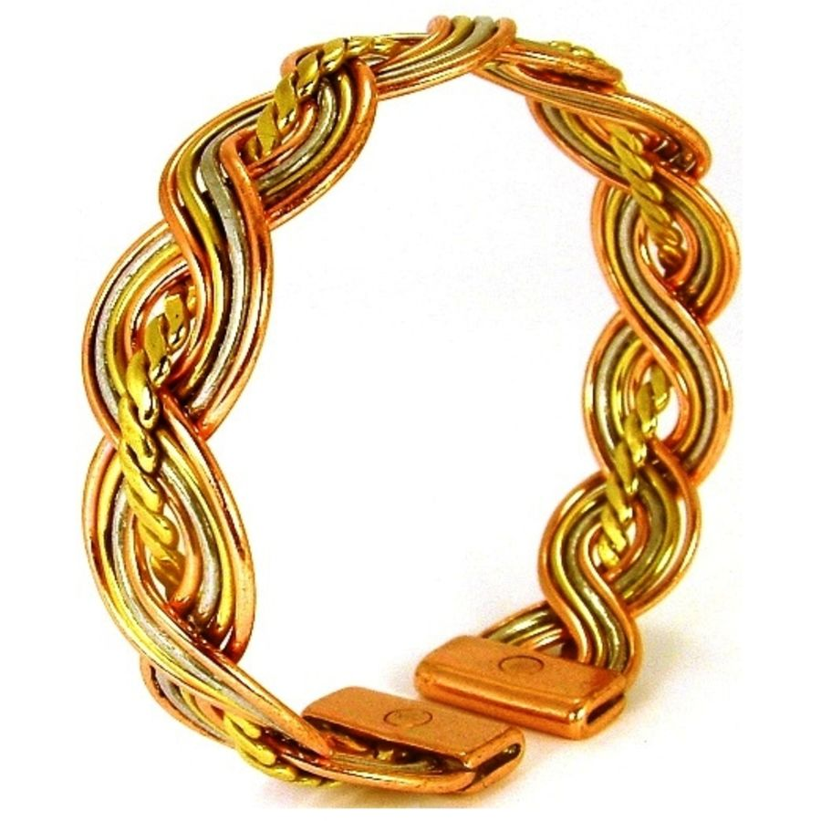Laurence Butler Magnetic Centre Twist Three Colour Bracelet