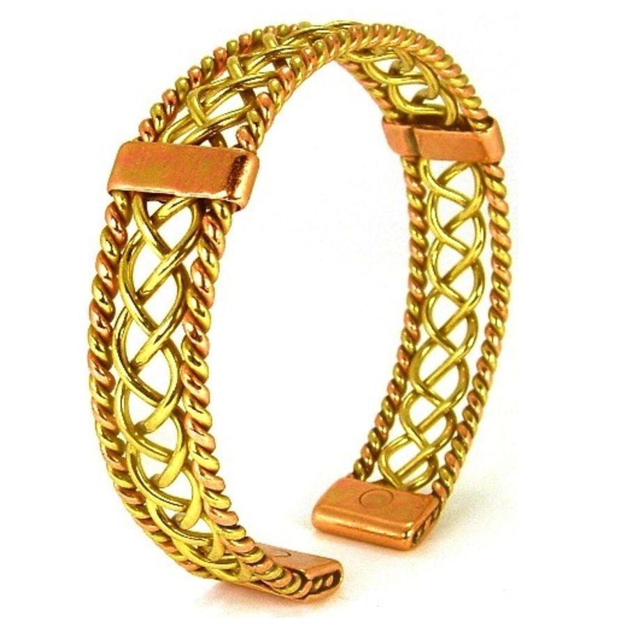 Laurence Butler Copper Magnetic Copper & Brass Lace Centre Bracelet