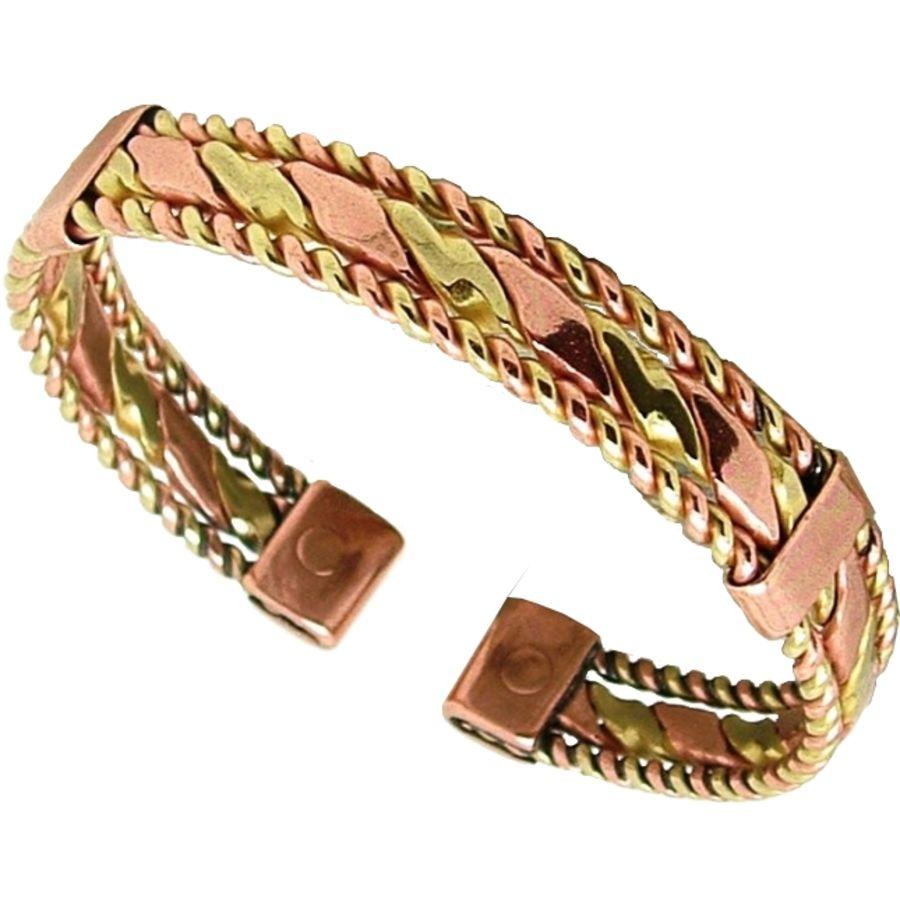 Laurence Butler Magnetic Copper & Brass Twist Bracelet