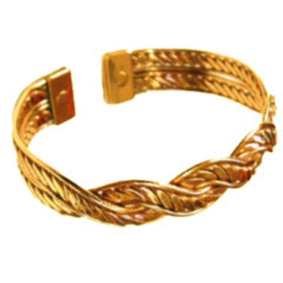 Laurence Butler Magnetic Copper Mexican Twist Bracelet