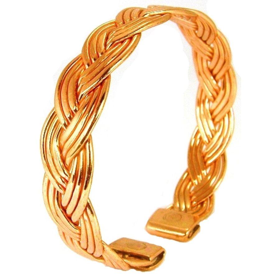 Laurence Butler Small Magnetic Copper Plait Bracelet