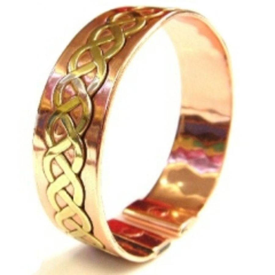 Laurence Butler Small Magnetic Brass Lace In Copper Band Bracelet