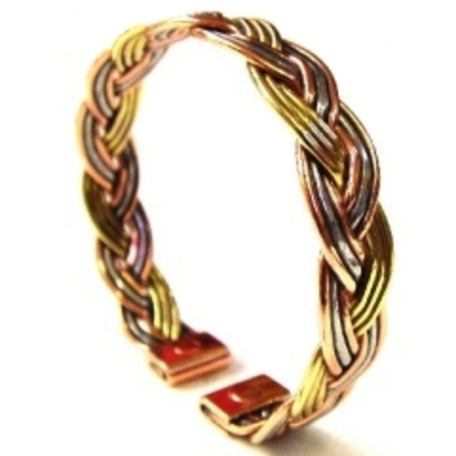 Laurence Butler Small Magnetic Three Colour Plait Bracelet