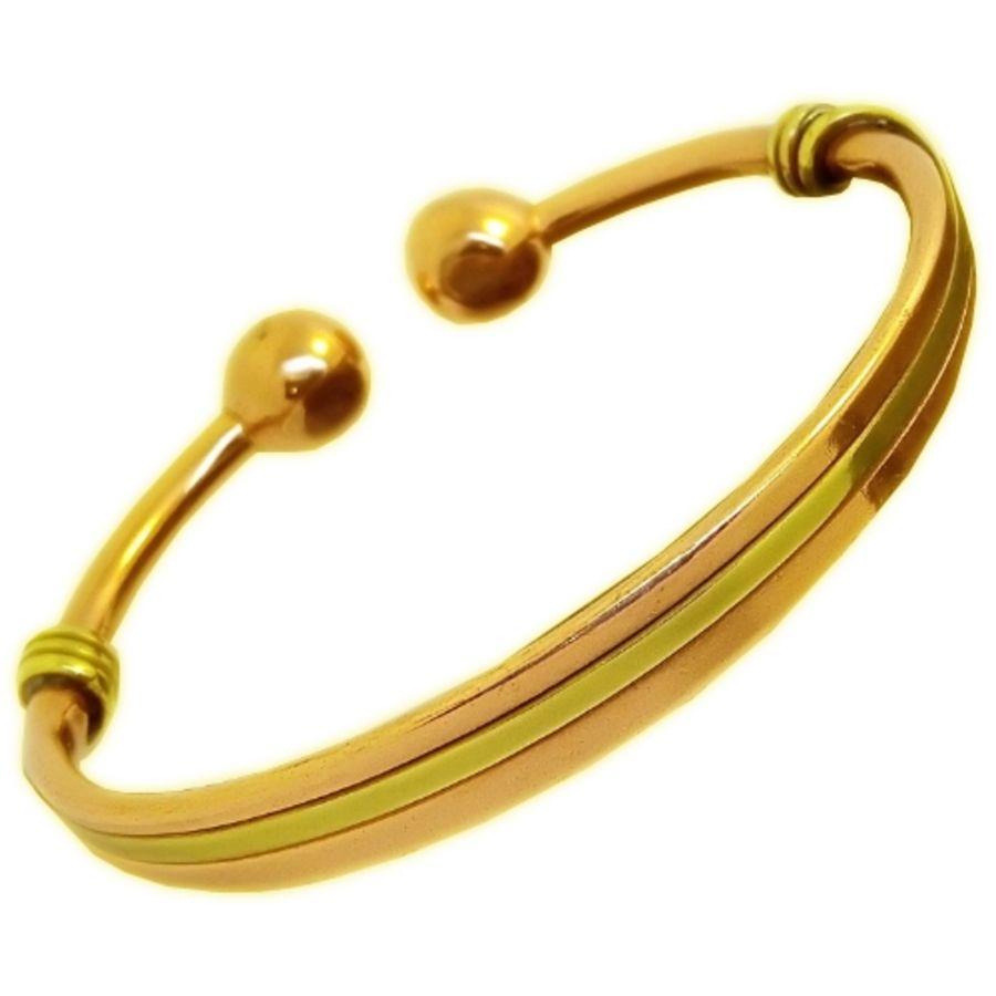 Laurence Butler Magnetic Copper & Brass Torque Bracelet