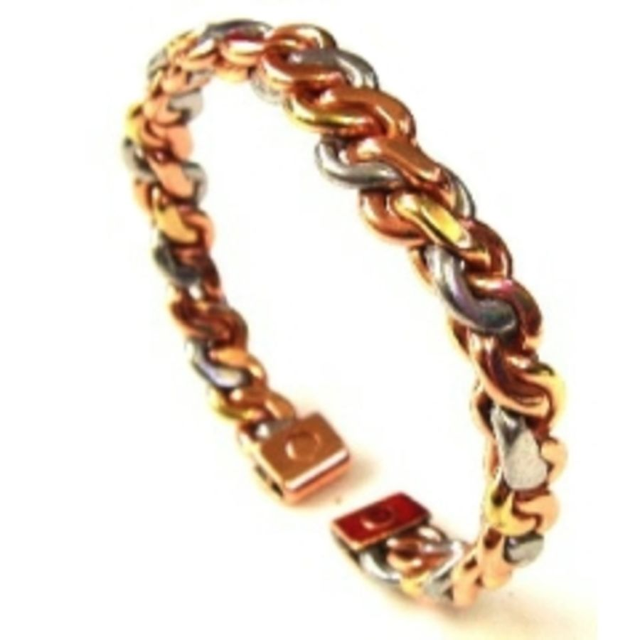 Laurence Butler Small Three Colour Entwined Magnetic Bracelet