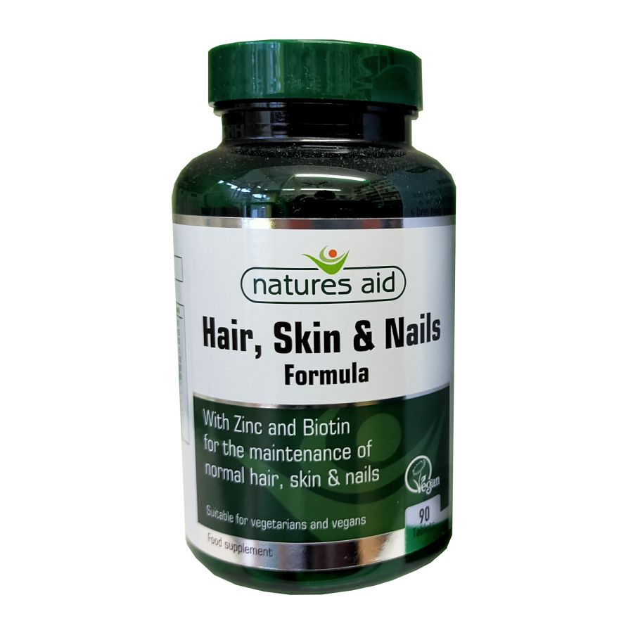 Natures Aid Hair, Skin & Nails Formula 90 tablets