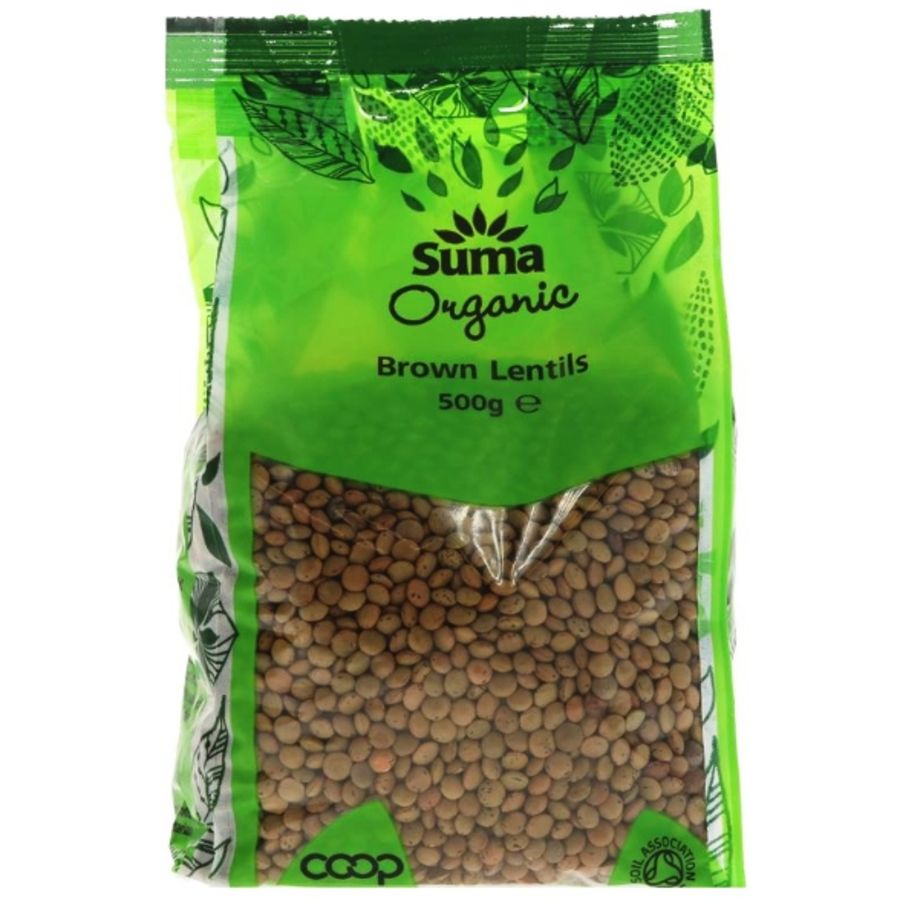 Suma Organic Brown Lentils 500g