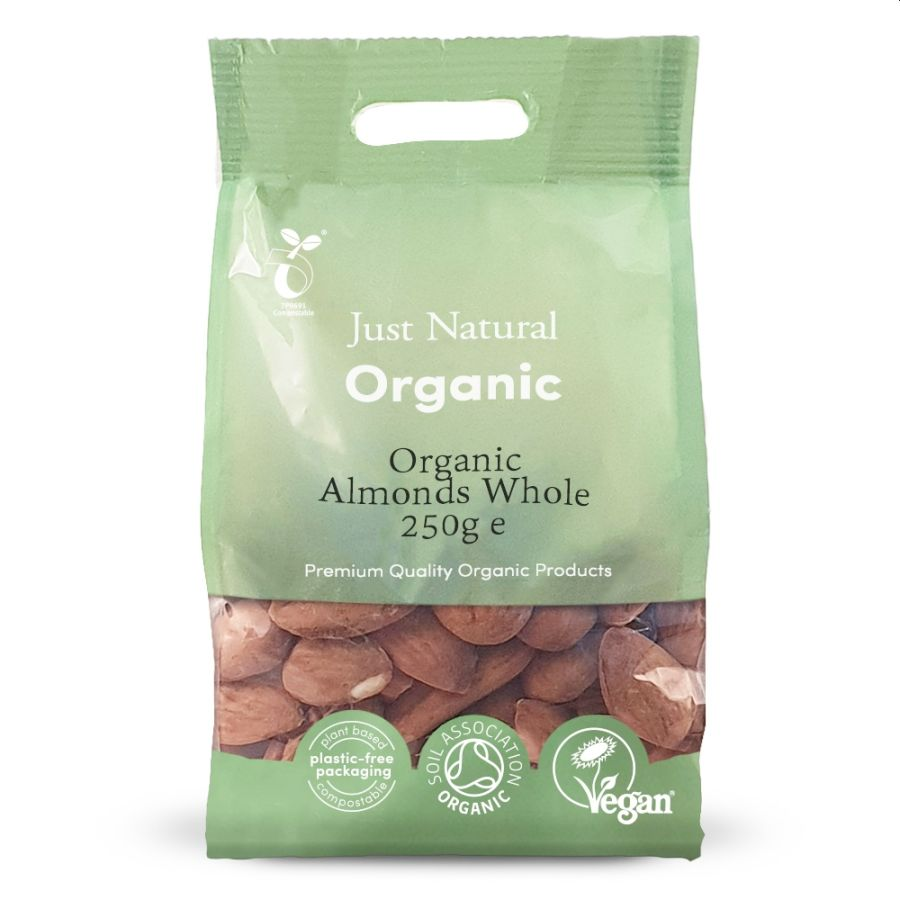 Just Natural Organic Whole Almonds 250g