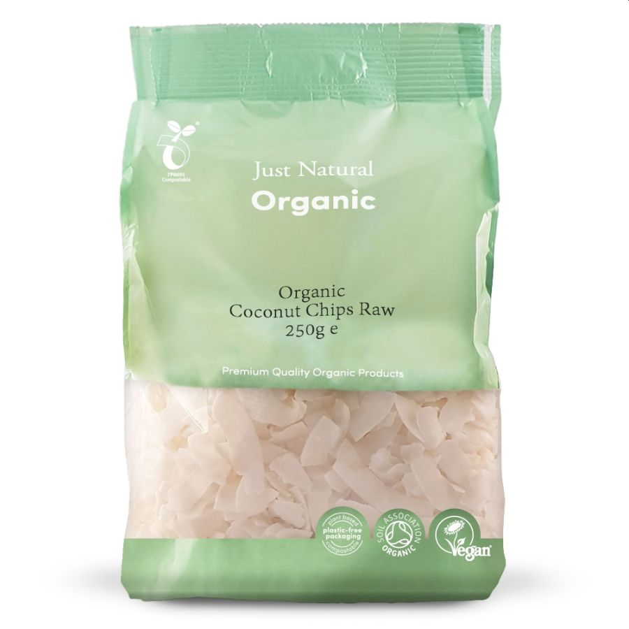 Just Natural Organic Raw Coconut Chips 250g
