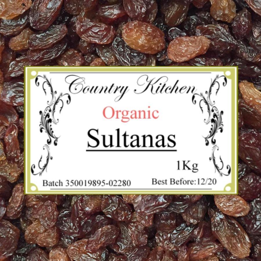 Country Kitchen Organic Sultanas 1kg