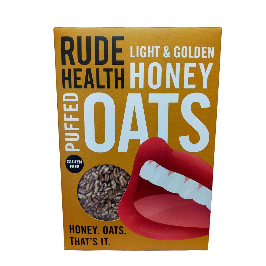 Rude Health Light & Golden Honey Puffed Oats 500g