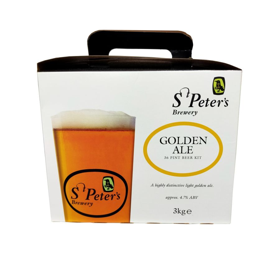 St Peter's Brewery Golden Ale 36 Pint Beer Kit 3Kg
