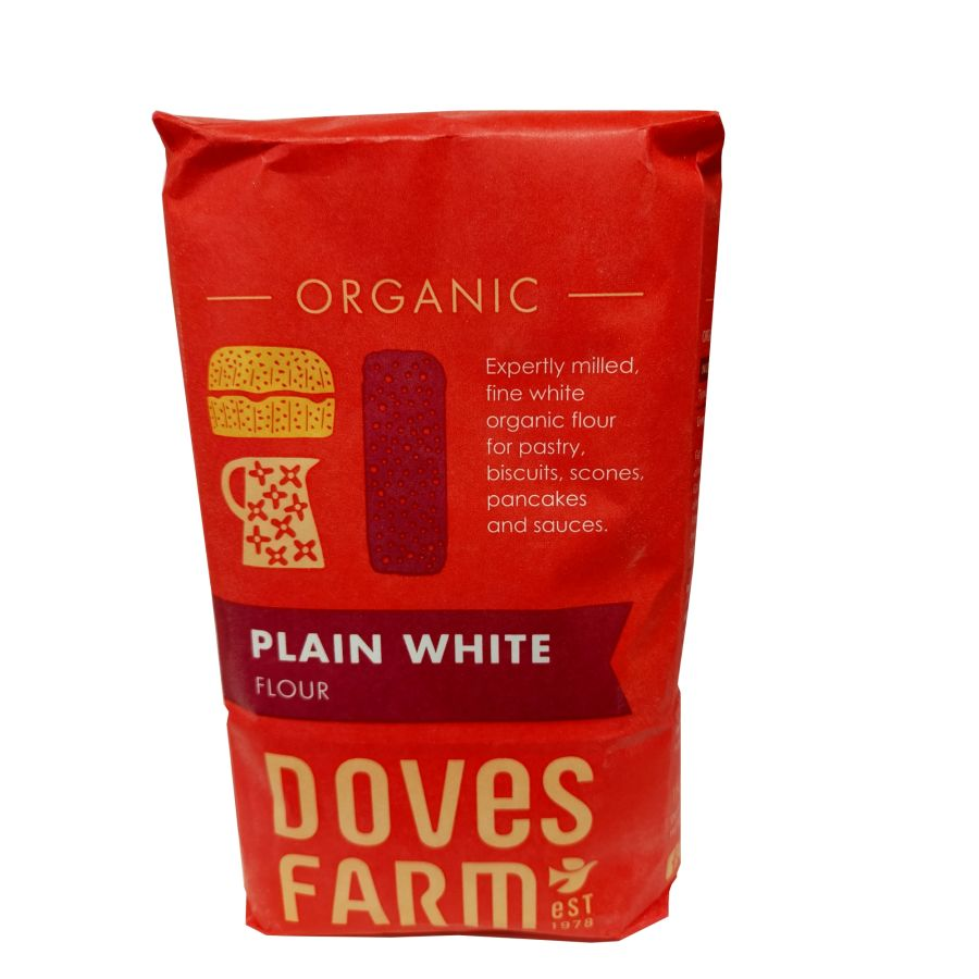 Doves Farm Organic White Plain Flour 1kg