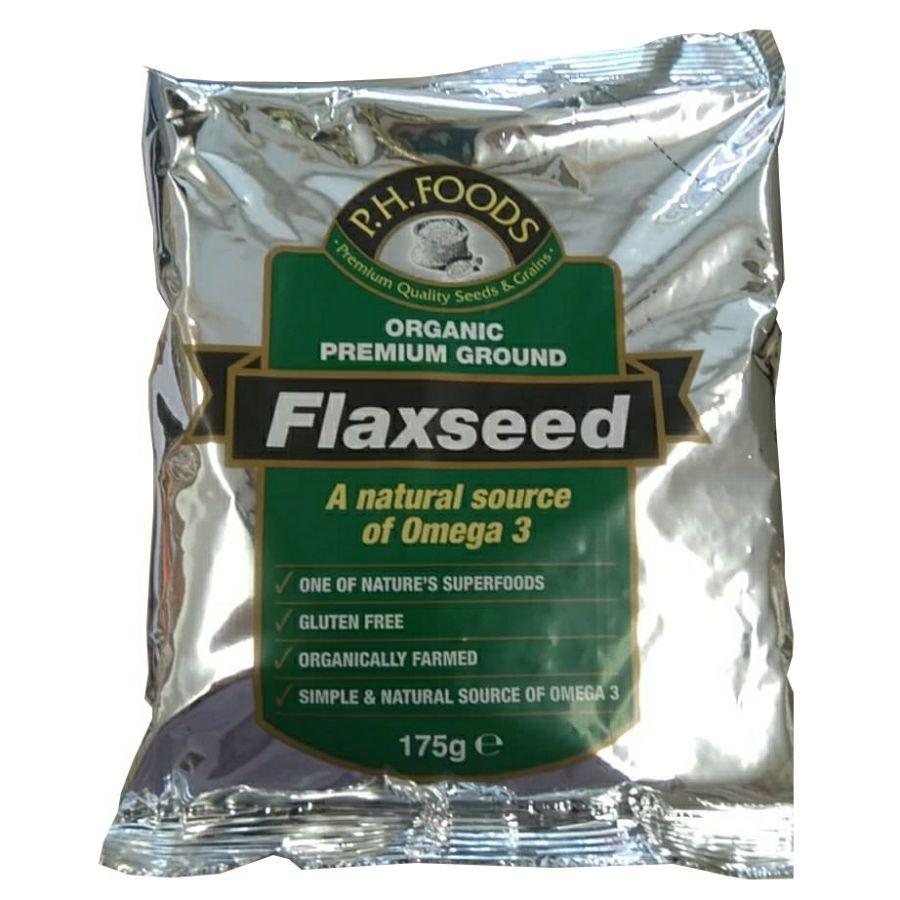 PH Foods Organic Premium Ground Flaxseed 175g