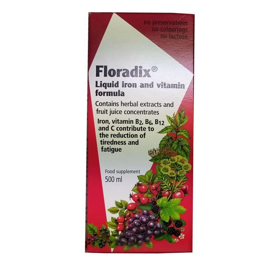 Floradix Liquid Iron and Vitamin Formula 500mls