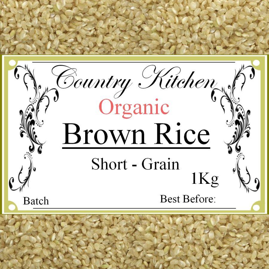 Country Kitchen Organic Short Grain Brown Rice 1Kg