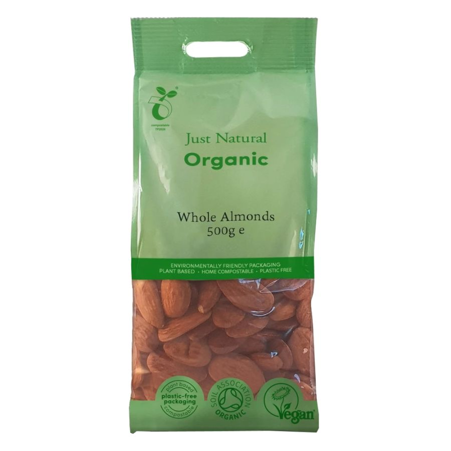 Just Natural Organic Whole Almonds 500g