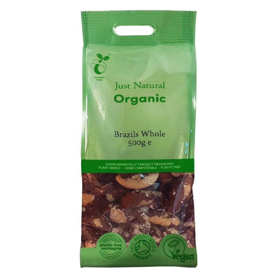 Just Natural Organic Whole Brazils 500g