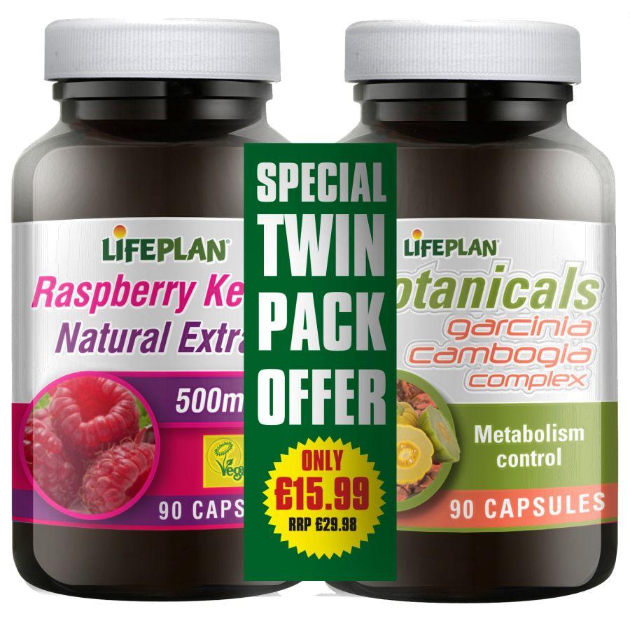 Lifeplan Raspberry Ketones 500mg & Garcinia Cambogia 90 Capsules
