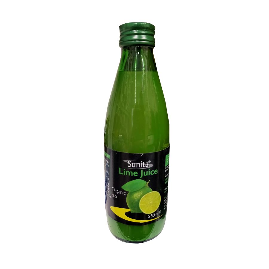 Sunita Organic Lime Juice 250mls