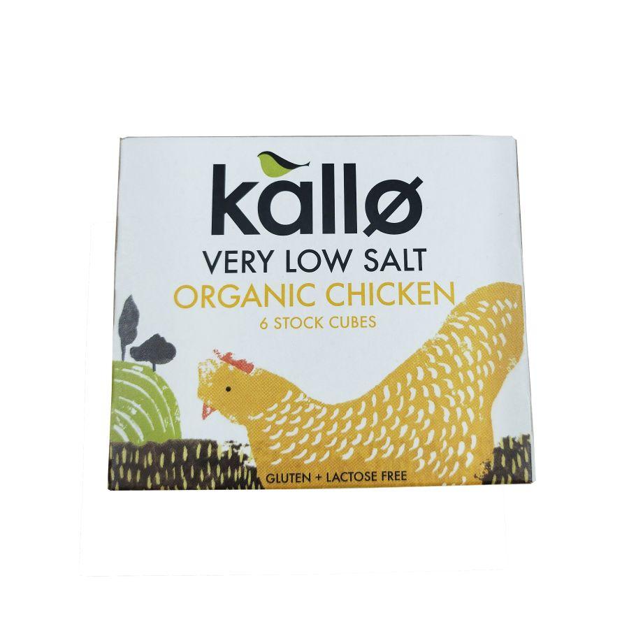Kallo Low Salt Organic Chicken Stock 6 Cubes