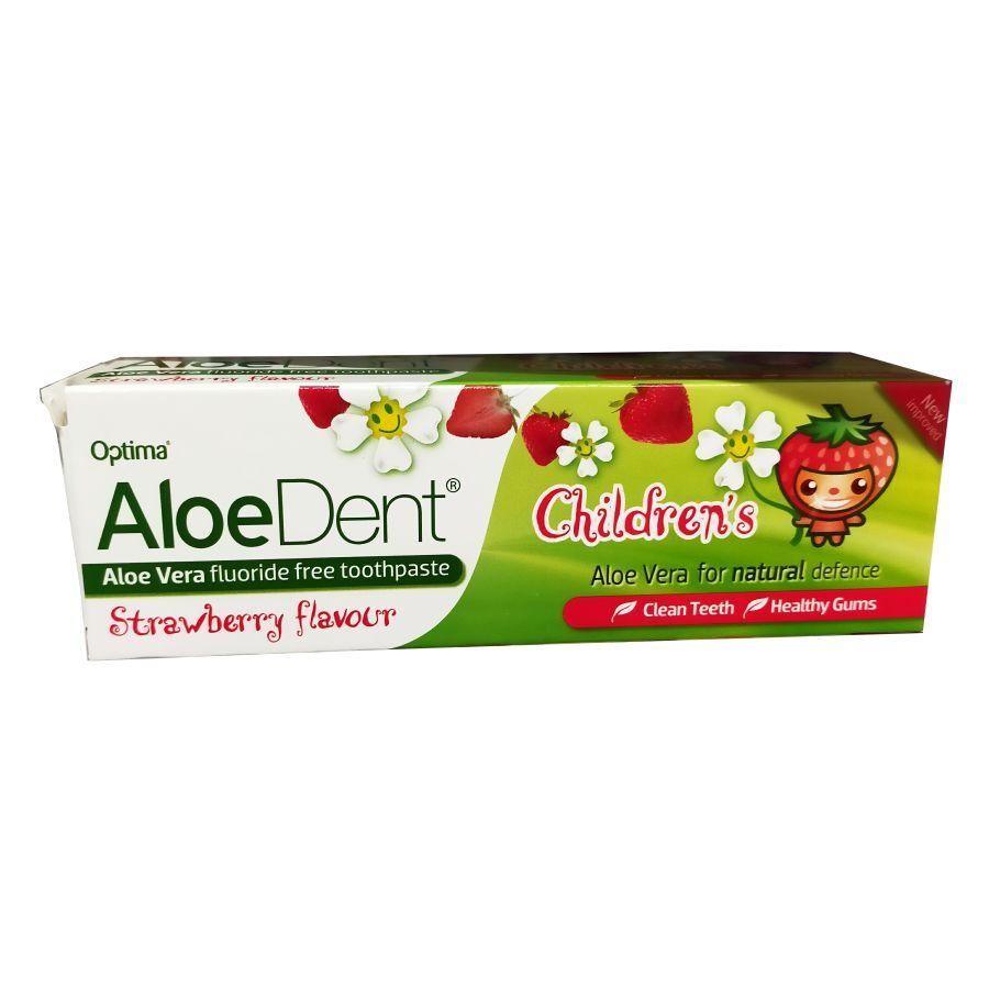 Aloe Dent Childrens Strawberry Toothpaste 50mls