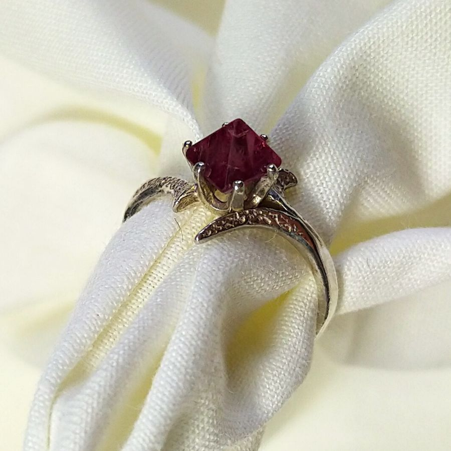 Natural Spinel Silver Ring