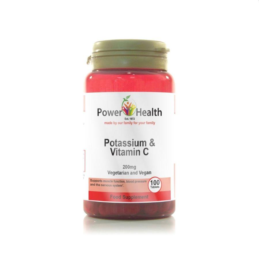 Power Health Potassium & Vitamin C 200mg 100 tablets