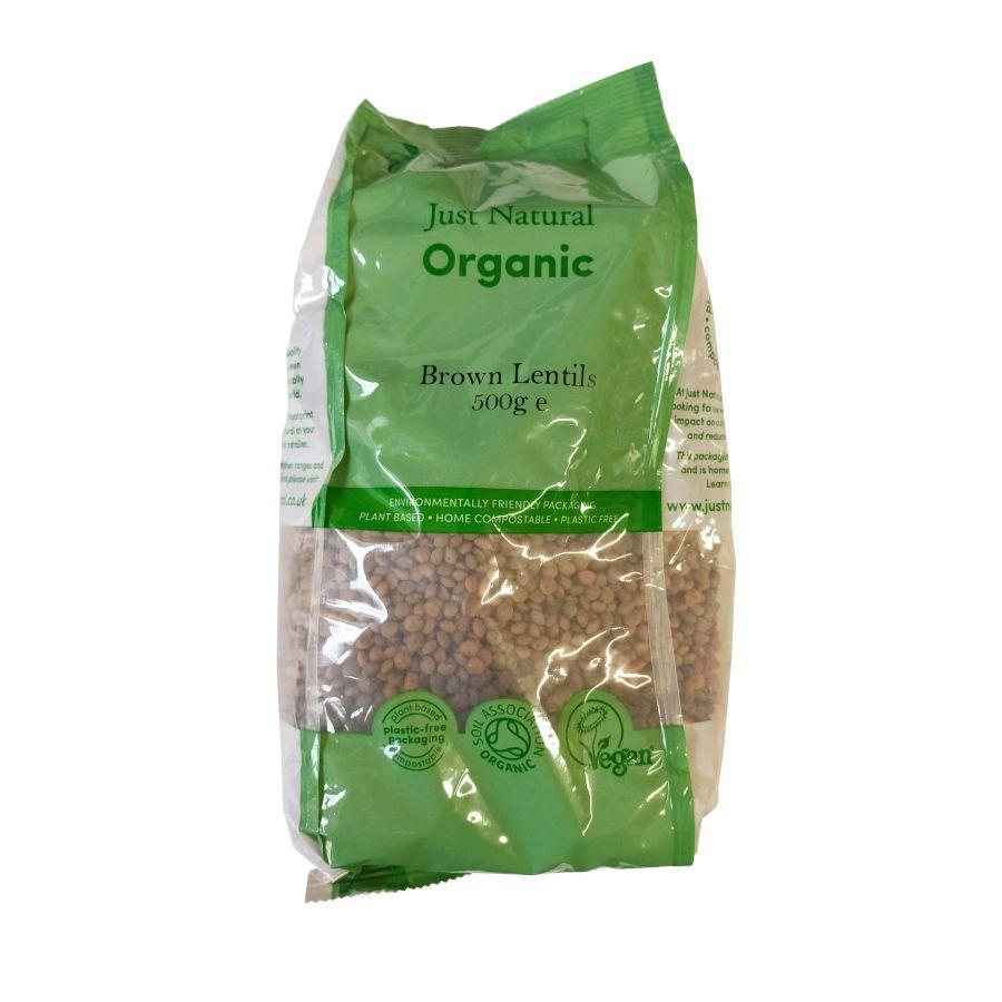 Just Natural Brown Lentils 500g