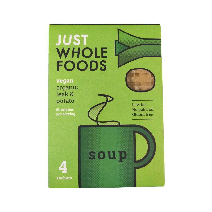 Just Natural Wholefoods Organic Vegan Leek & Potato Soup 4 x 17g