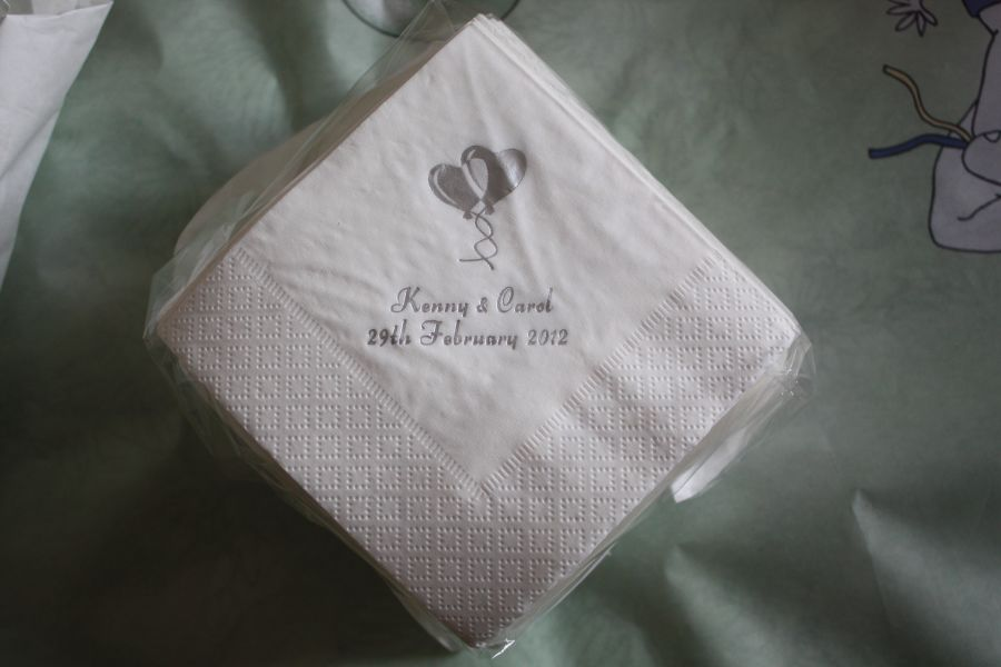3 ply Cocktail Personalised Paper Napkins