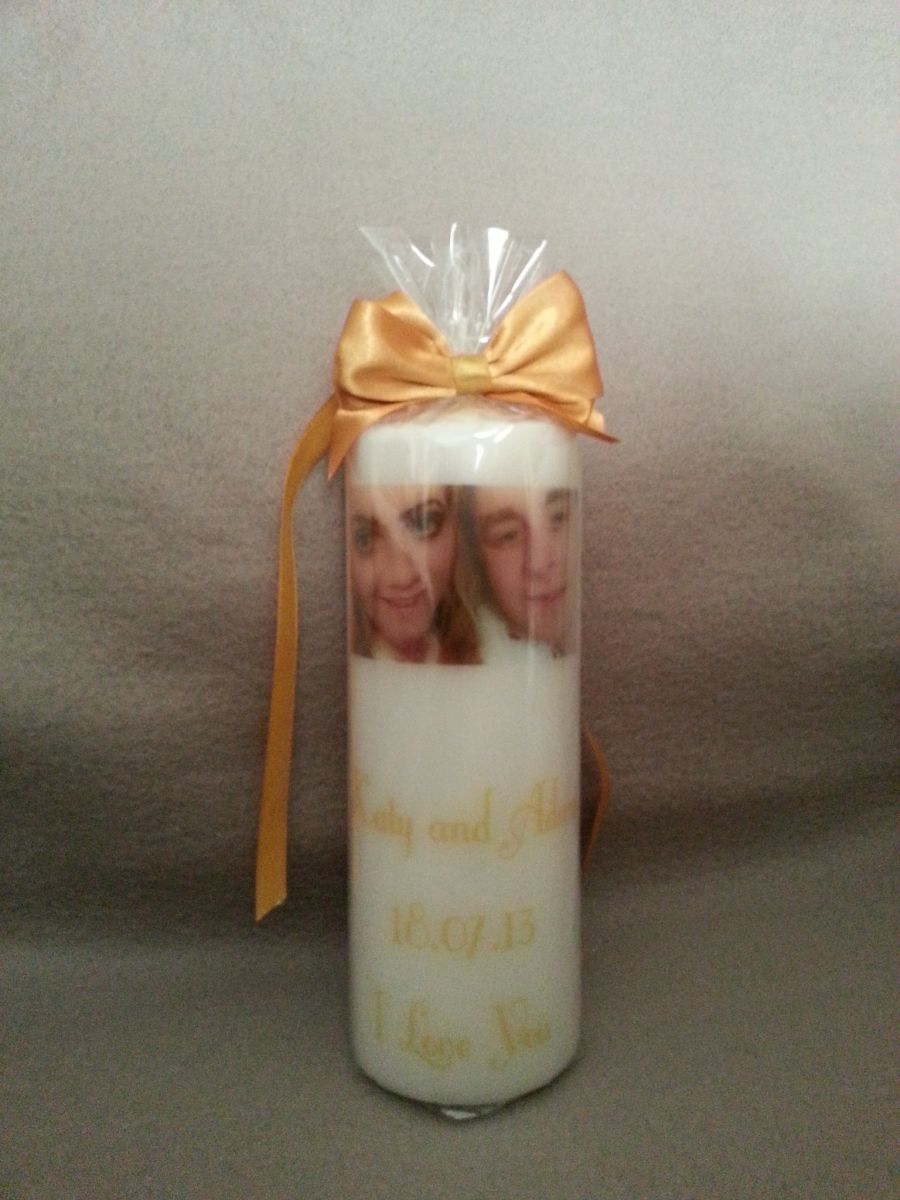 Personalised Ivory 8x3 Candle