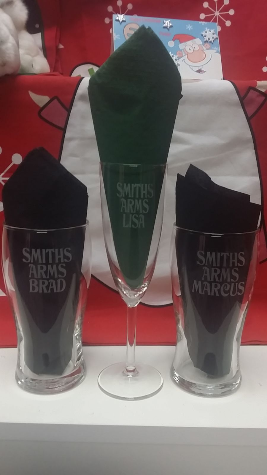 Personalised Etched Champagne Glasses