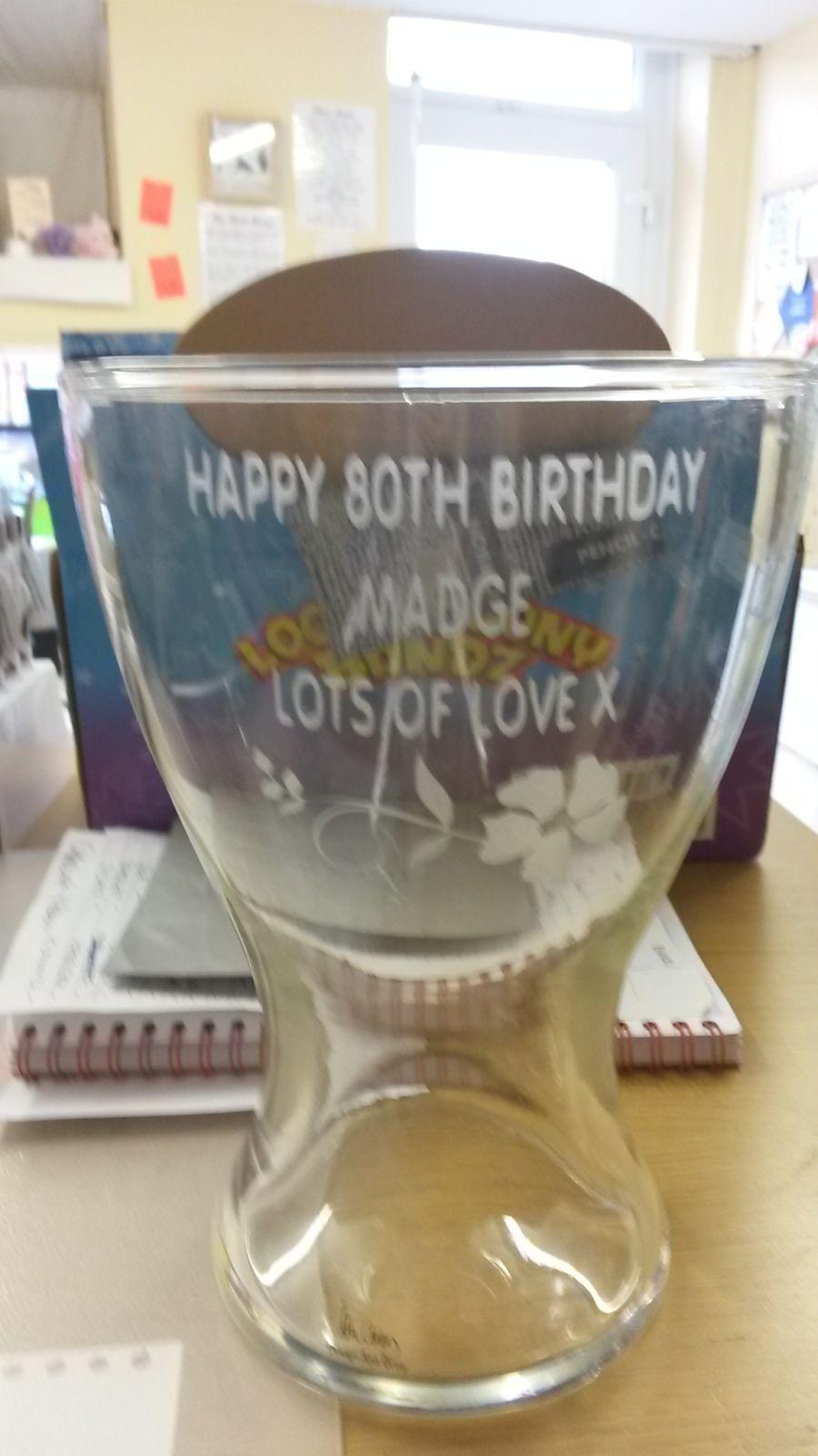Personalised Etched Vase