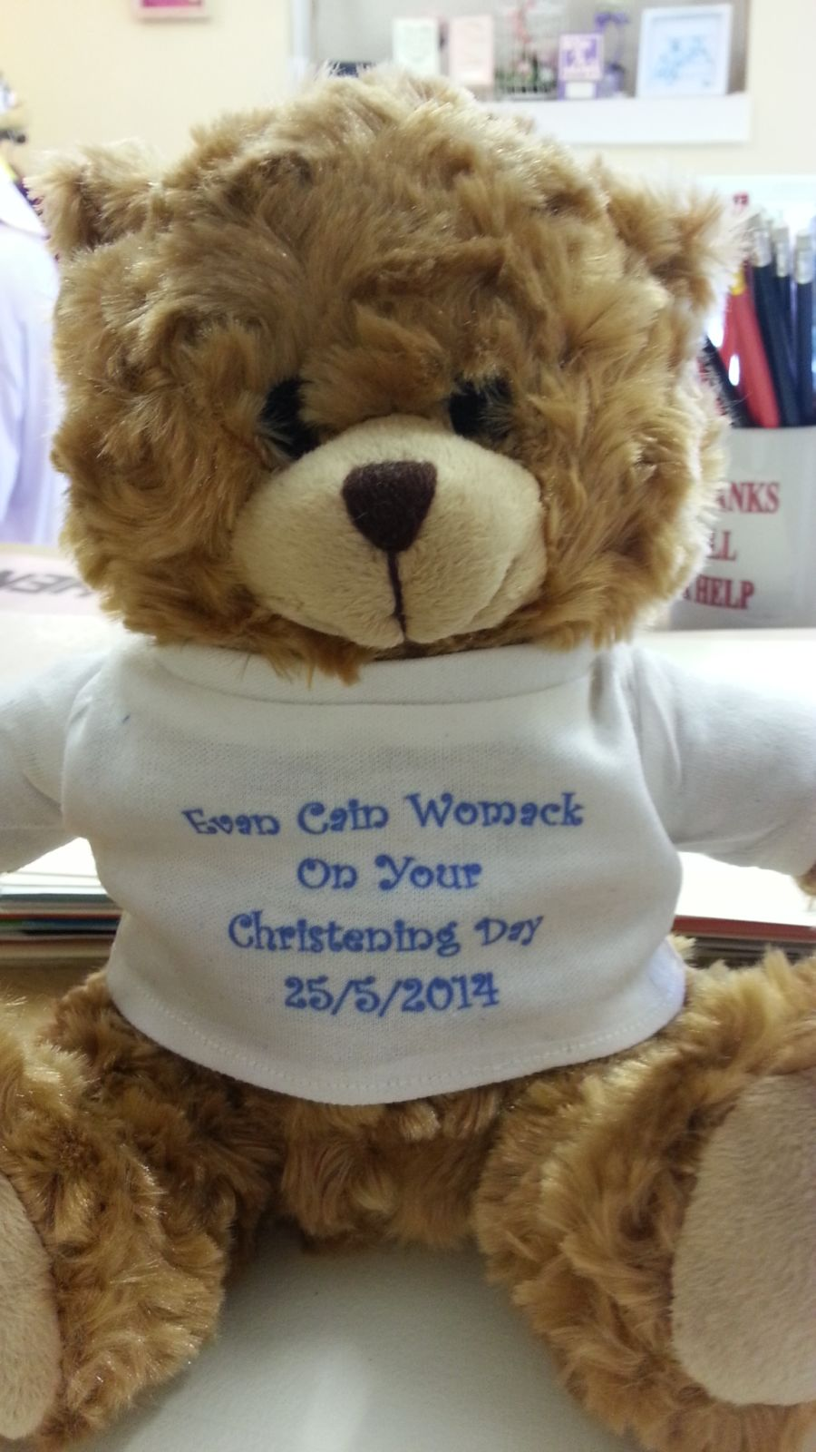 Bear With Personalised T Shirt