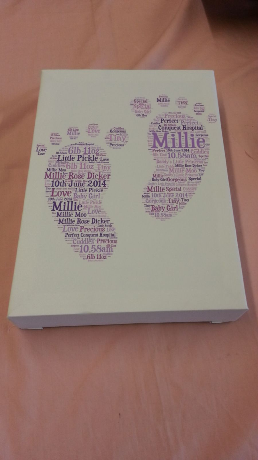 Personalised A4 Word Art Canvas Print